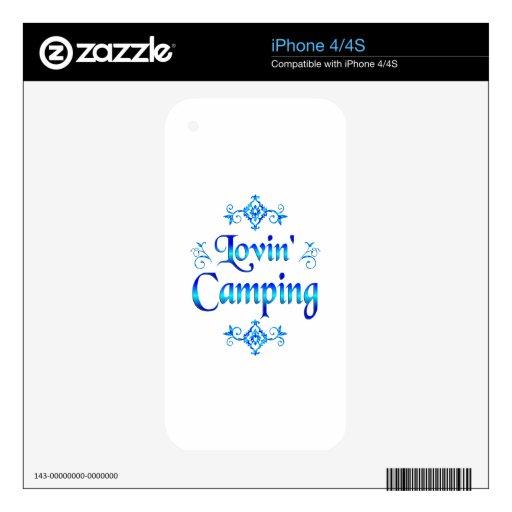 El acampar de Lovin iPhone 4 Skin