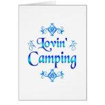 El acampar de Lovin Tarjeton