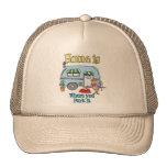 El acampar de rv gorra