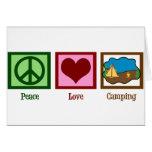 El acampar del amor de la paz tarjeta