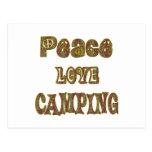 El acampar del amor de la paz tarjeta postal