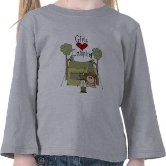 El acampar del amor de los chicas camisetas