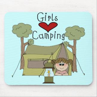 El acampar del amor de los chicas alfombrilla de ratones