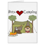 El acampar del amor de los muchachos felicitaciones