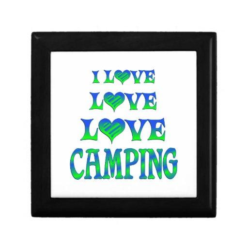 El acampar del amor del amor caja de recuerdo