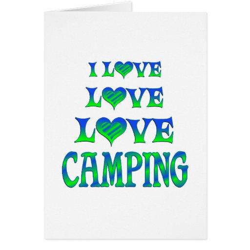 El acampar del amor del amor felicitaciones