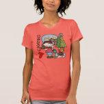 El acampar del amor del chica I del pelo de Brown Camisetas
