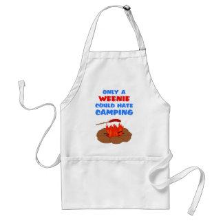El acampar del odio de los Weenies Delantal