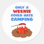 El acampar del odio de los Weenies Pegatina Redonda
