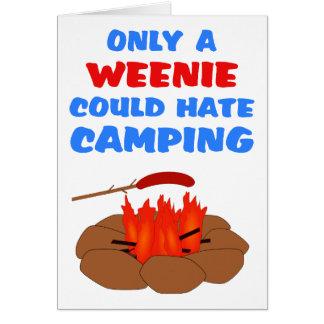 El acampar del odio de los Weenies Tarjetón