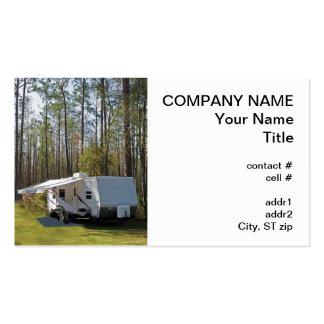 el acampar del remolque plantilla de tarjeta personal