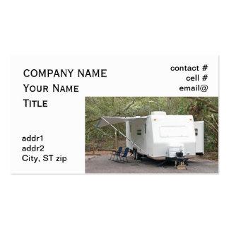 el acampar del remolque plantilla de tarjeta de negocio