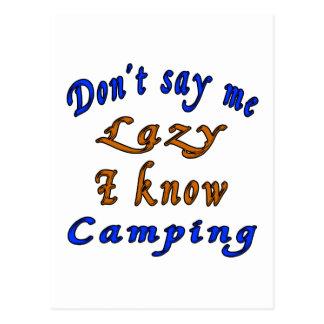 El acampar. Diseños Postal