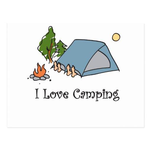 El acampar divertido del amor de I Postales