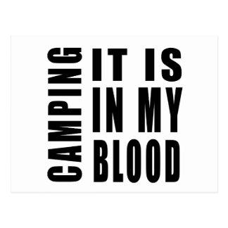 El acampar él está en mi sangre postal