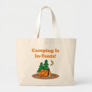 El acampar en tiendas bolsa tela grande