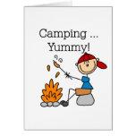 El acampar es delicioso felicitaciones