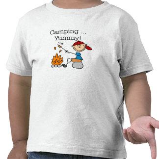 El acampar es delicioso camisetas
