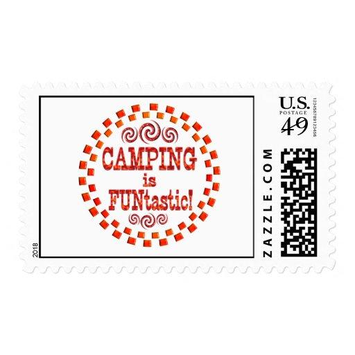 El acampar es Funtastic Sellos