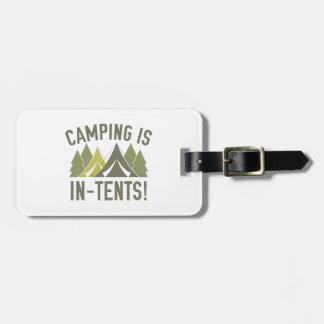 ¡El acampar es intentos! Etiquetas Para Maletas