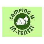 el acampar es intentos postales