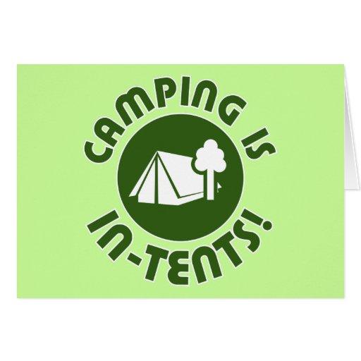 el acampar es intentos tarjeton