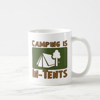 El acampar es intentos taza