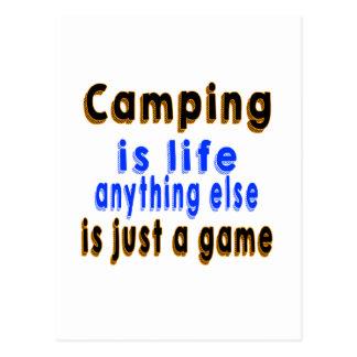 El acampar es vida que todo lo demás es apenas un postal