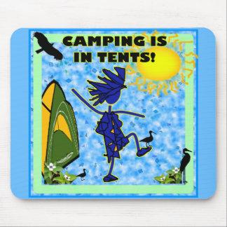 El acampar está en diseño de las tiendas alfombrilla de ratones
