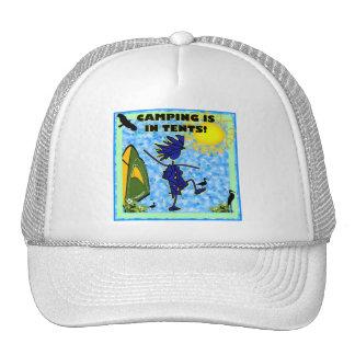 El acampar está en diseño de las tiendas gorras