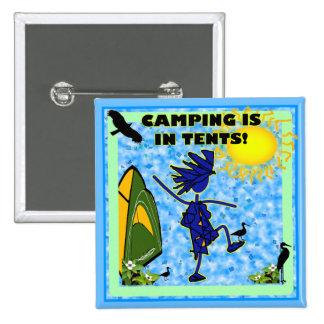 El acampar está en diseño de las tiendas pin