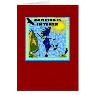 El acampar está en diseño de las tiendas tarjeta