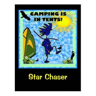 El acampar está en diseño de las tiendas tarjetas postales