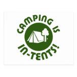 El acampar está en tiendas tarjetas postales