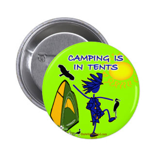 El acampar está intenso en tiendas pin