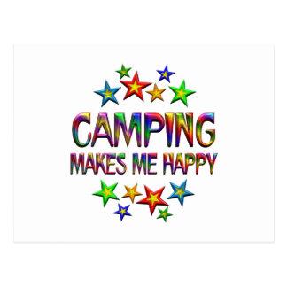 El acampar feliz postales