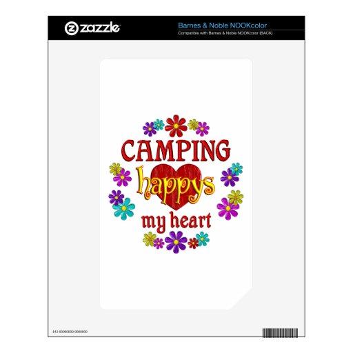 El acampar feliz skin para el NOOK color