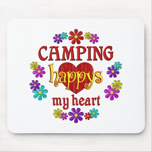 El acampar feliz tapete de raton