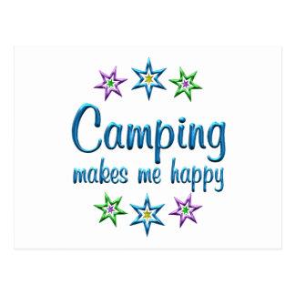 El acampar feliz tarjetas postales