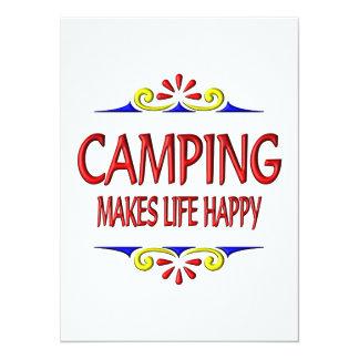 """El acampar hace vida feliz invitación 5.5"""" x 7.5"""""""
