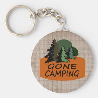 El acampar ido llavero redondo tipo pin