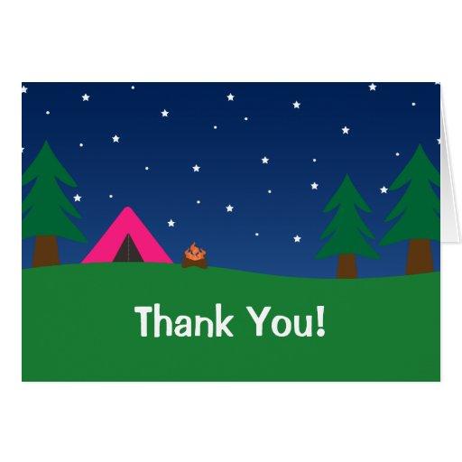 El acampar le agradece los chicas felicitación