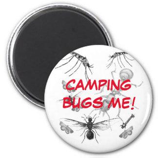 El acampar me fastidia imán divertido