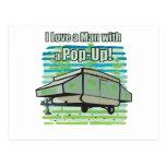 El acampar móvil postales