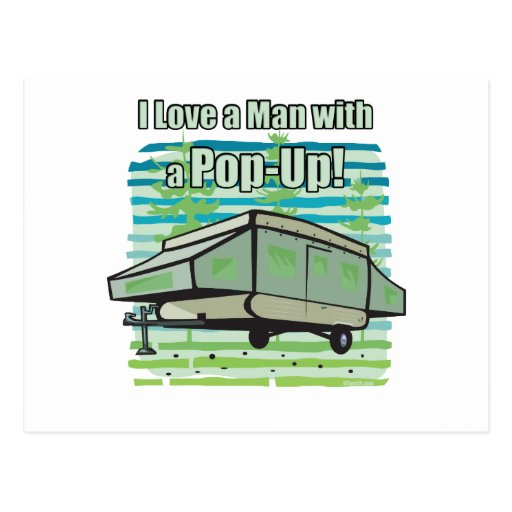 El acampar móvil tarjetas postales