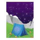 El acampar - noche postales
