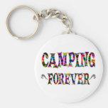 El acampar para siempre llaveros