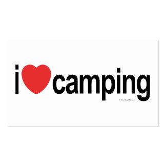 El acampar personalizado plantillas de tarjetas de visita