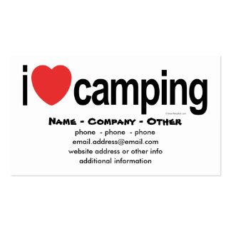 El acampar personalizado plantillas de tarjetas personales