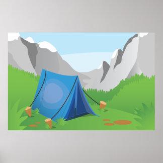 El acampar póster